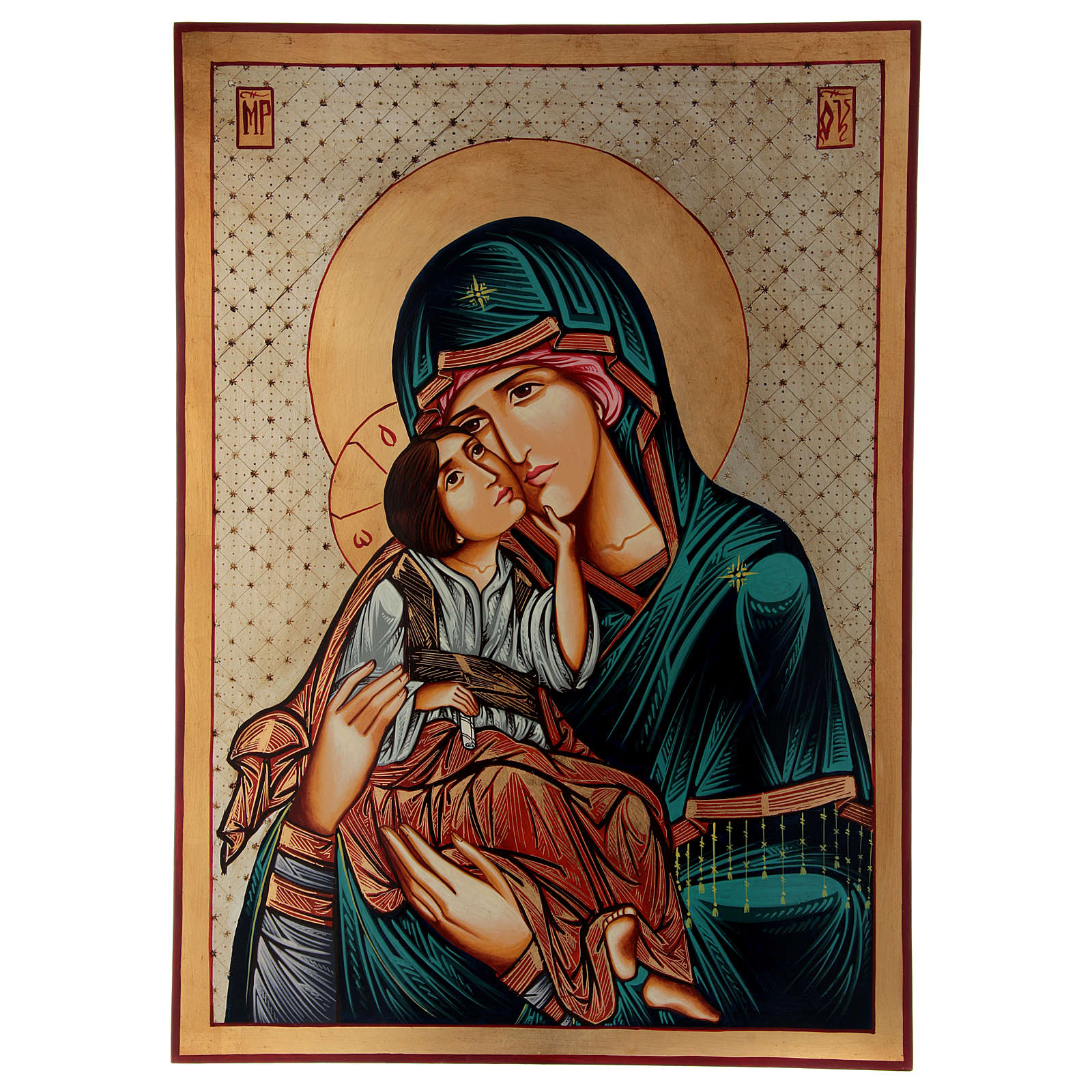 Vergine Odigitria Icona Romania 70x50 cm 4