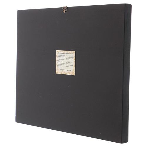 Icône byzantine Distribution Pain et Poissons peinte sur bois 30x25 cm Roumanie 3