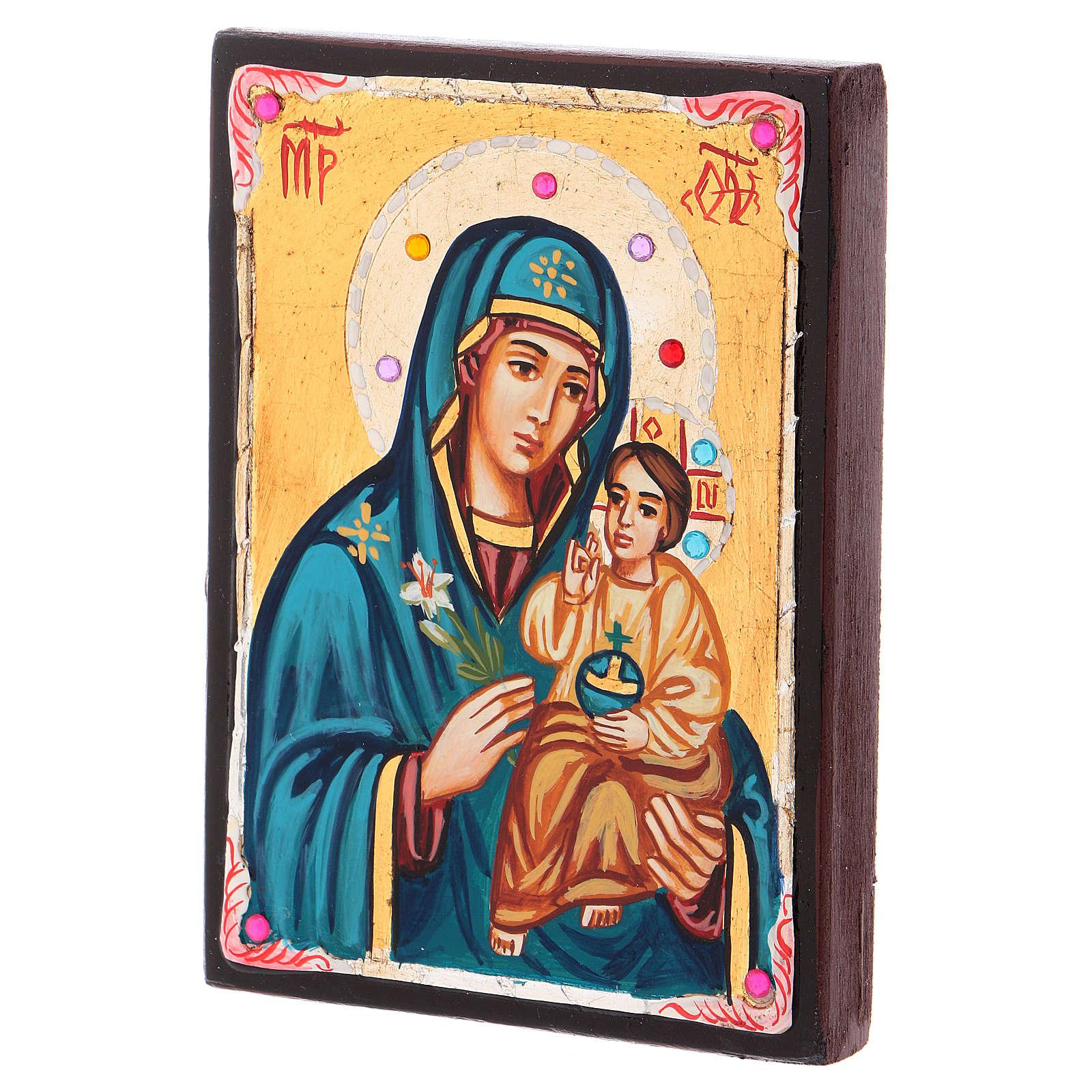Icône Roumanie Mère de Dieu Odigitria 14x10 cm 4