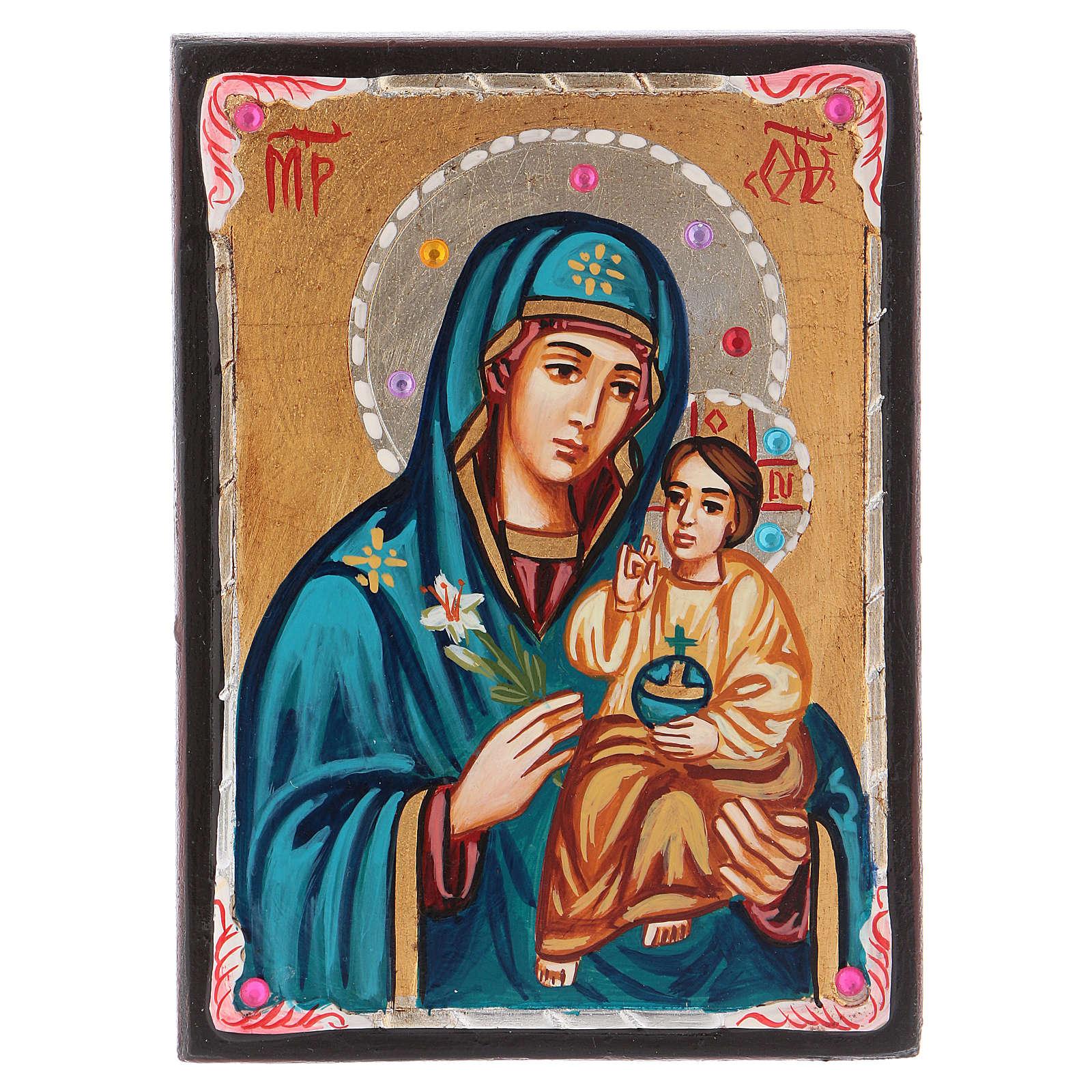 Icona Romania Madre di Dio Odighitria 14x10 cm Romania 4