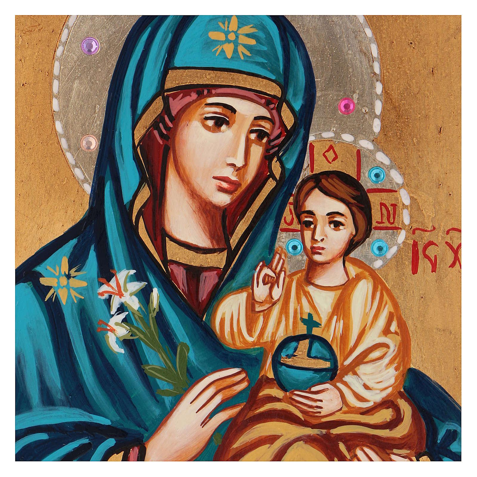 Icône Mère de Dieu Odigitria Roumanie 18x14 cm 4