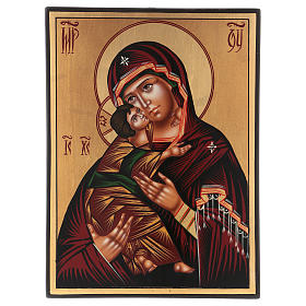 Romanian icon of Our Lady of Vladimirskaja 30x25 cm s1