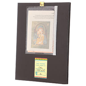 Romanian icon of Our Lady of Jaroslavskaja with golden decorations 30x20 cm s3