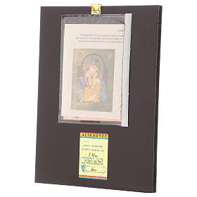 Icona Madre Dio Jaroslavskaja decori dorati 30x20 cm dipinta Romania s3