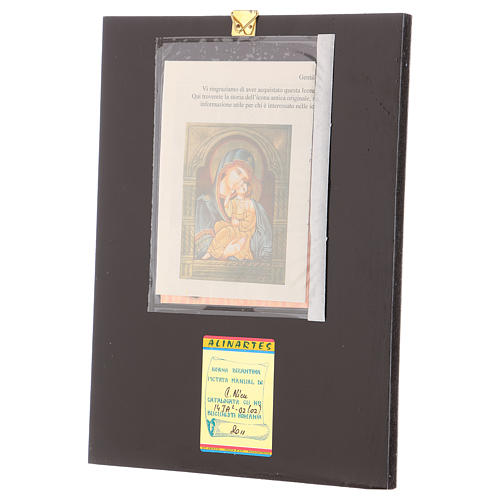 Icona Madre Dio Jaroslavskaja decori dorati 30x20 cm dipinta Romania 3