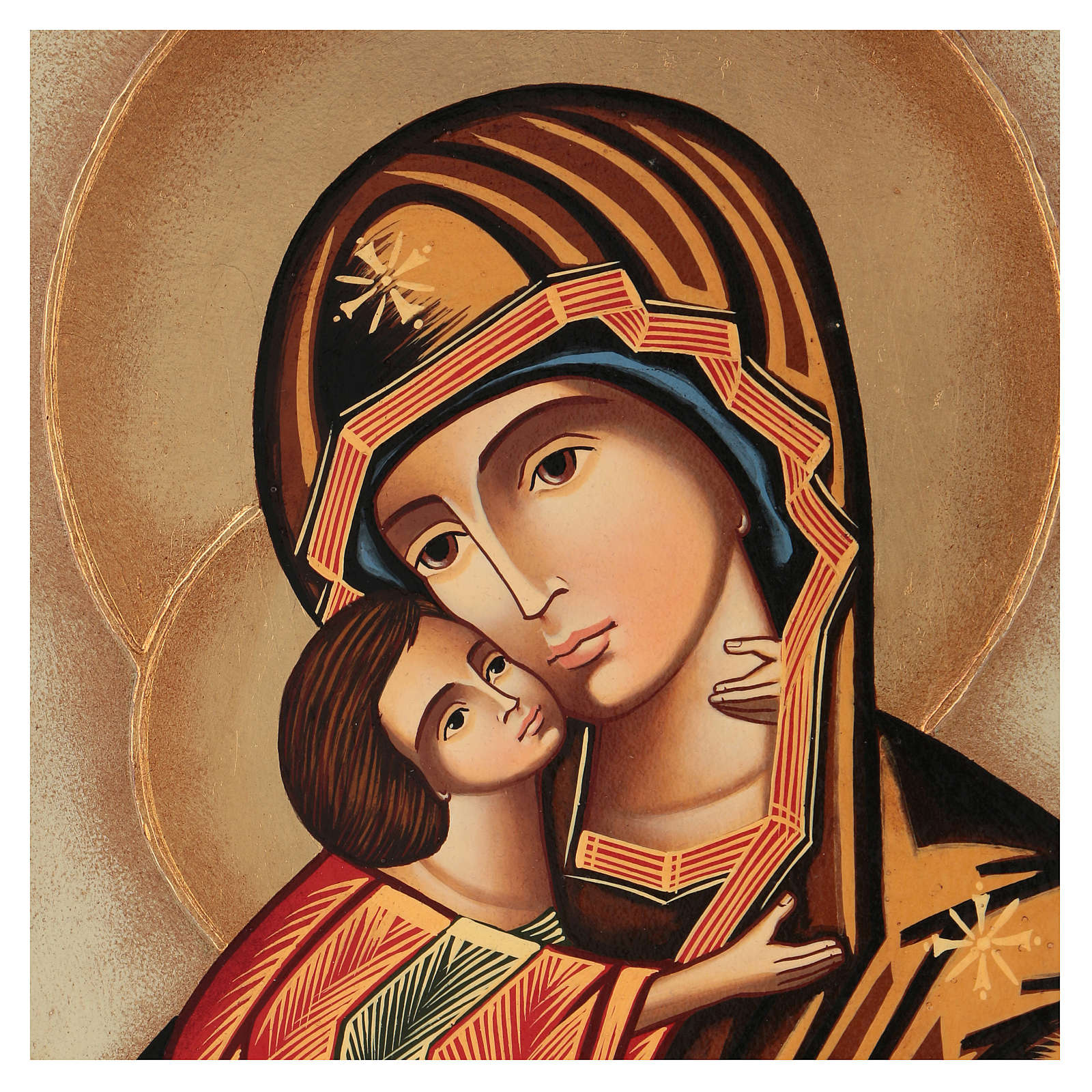 Romanian icon of Our Lady of Vladimir 40x30 cm 4