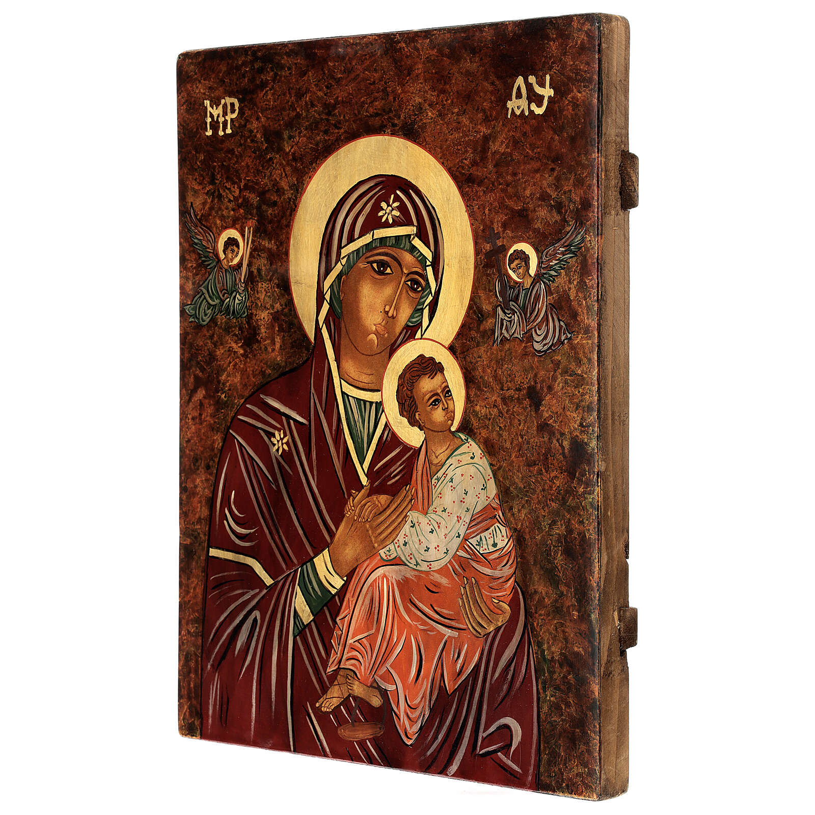 Icono Madre de Dios de la Pasión 40x30 cm pintado Rumanía 4