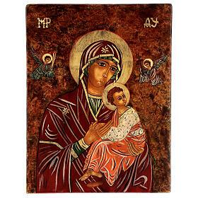Icono Madre de Dios de la Pasión 40x30 cm pintado Rumanía s1
