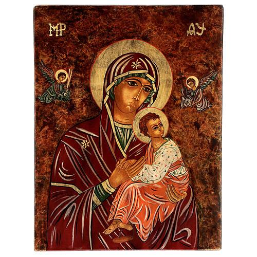 Icono Madre de Dios de la Pasión 40x30 cm pintado Rumanía 1