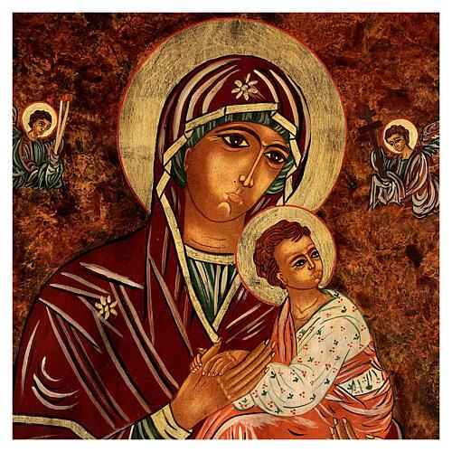 Icono Madre de Dios de la Pasión 40x30 cm pintado Rumanía 2