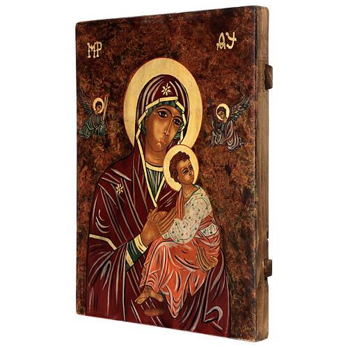 Icono Madre de Dios de la Pasión 40x30 cm pintado Rumanía 3