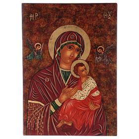 Icona Madre di Dio della Passione 40x30 cm dipinta Romania s1