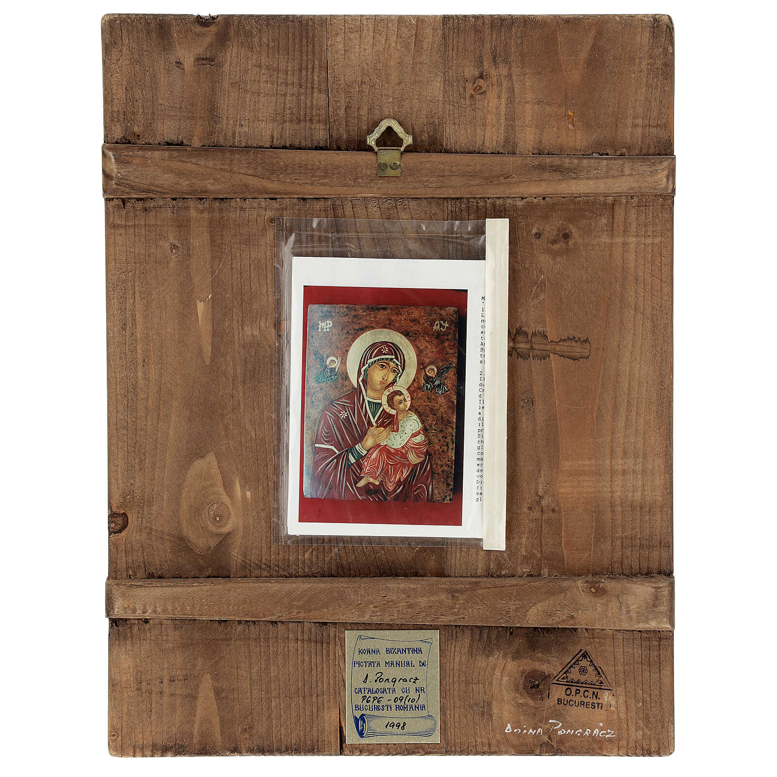 Icon Mother of God of The Passion, 40x30 cm painted Romania 4