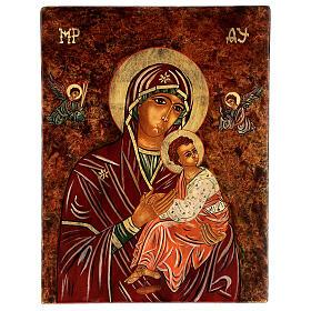 Icon Mother of God of The Passion, 40x30 cm painted Romania s1