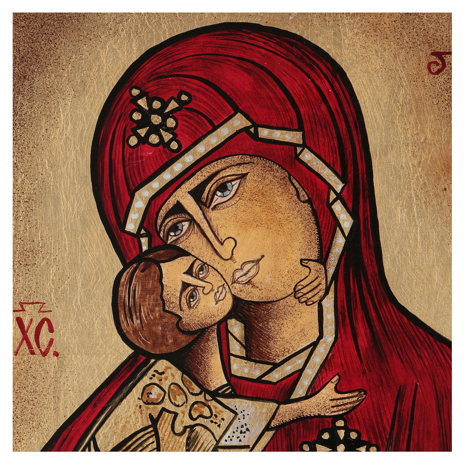 Romanian icon of Our Lady of Kazanskaja 35x30 cm 4