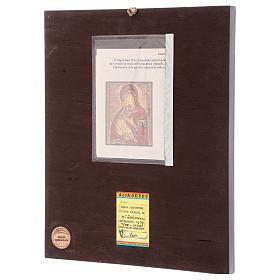 Icona Madonna della Tenerezza 35x30 cm dipinta Romania s3