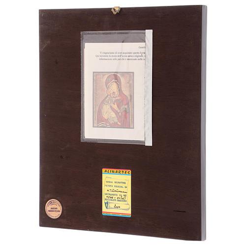 Icona Madonna della Tenerezza 35x30 cm dipinta Romania 3