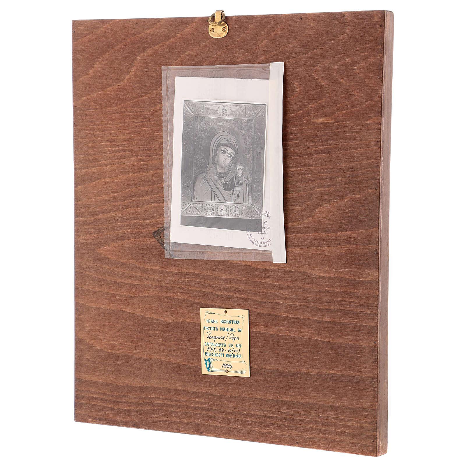 Icona Madre di Dio Kazanskaja 40x30 cm dipinta Romania 4