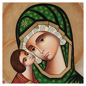 Romanian icon of Our Lady of Tenderness 40x30 cm s2