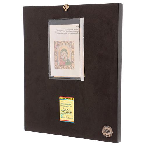 Icona Madre della Tenerezza 40x30 cm dipinta Romania 3