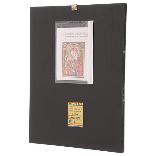 Icona Madre di Dio Hodighitria 40x30 cm dipinta Romania 3