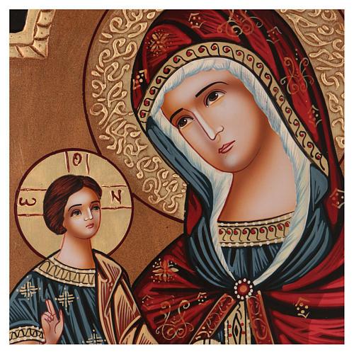 Ícone Nossa Senhora Hodighitria 40x30 cm pintado Roménia