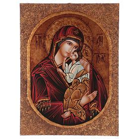Icona Madre di Dio Jaroslavskaja 40x30 cm dipinta Romania s1