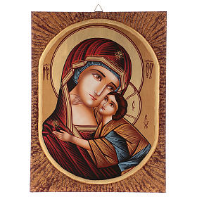 Icona Madre della Tenerezza 40x30 cm dipinta Romania s1