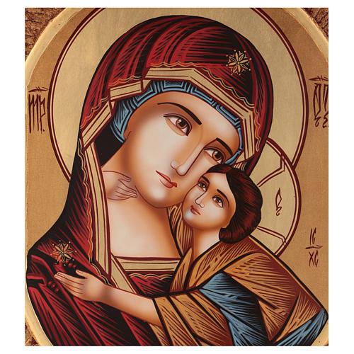 Icona Madre della Tenerezza 40x30 cm dipinta Romania 2