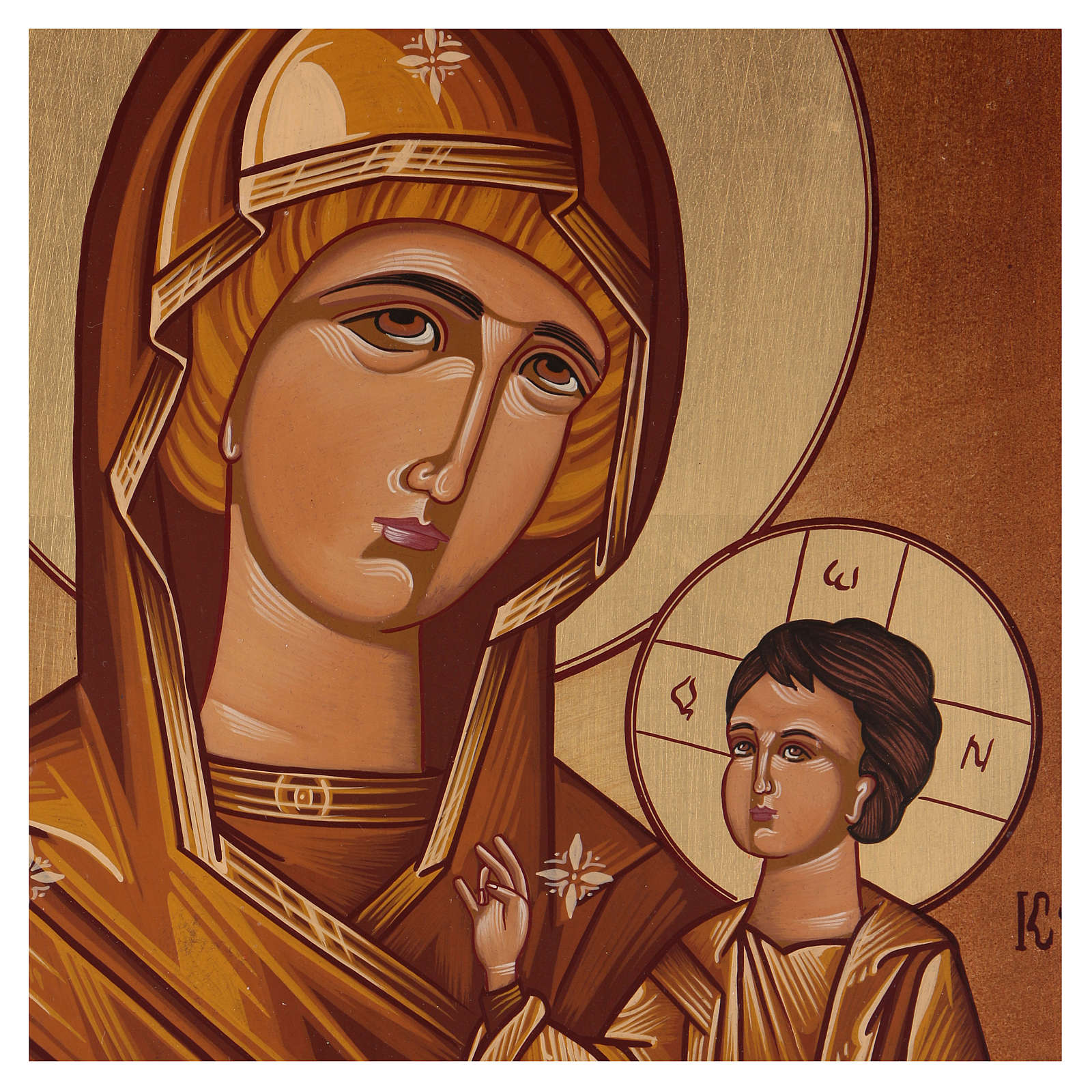 Icon of Our Lady of Hodighitria 40x30 cm 4