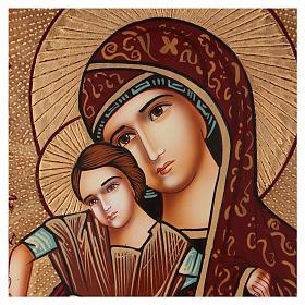 Icona Madre di Dio di Dostojno Est 40x30 cm dipinta Romania s2