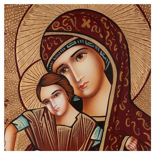 Icona Madre di Dio di Dostojno Est 40x30 cm dipinta Romania 2