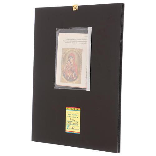 Icona Madre di Dio di Dostojno Est 40x30 cm dipinta Romania 3