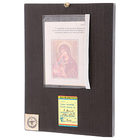 Icona Madre di Dio Donskaja 30x25 cm dipinta Romania s3