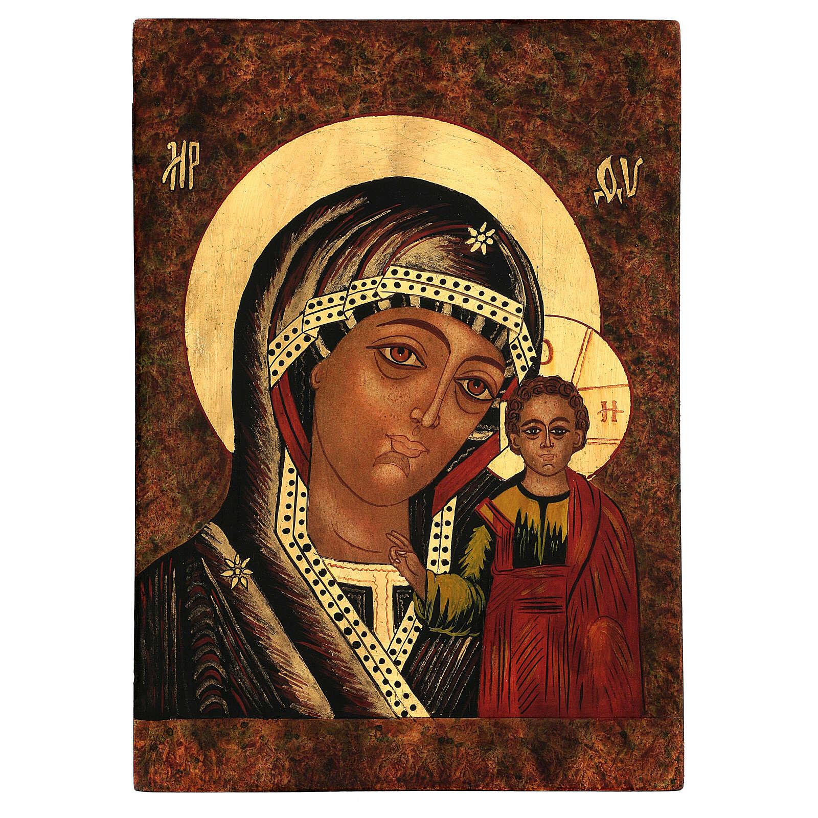 Icon of Our Lady of Kazan 35x30 cm 4
