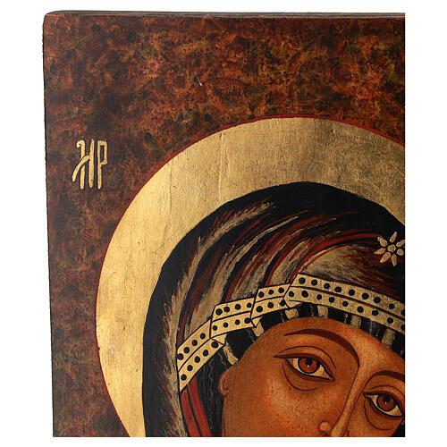Icon of Our Lady of Kazan 35x30 cm 3