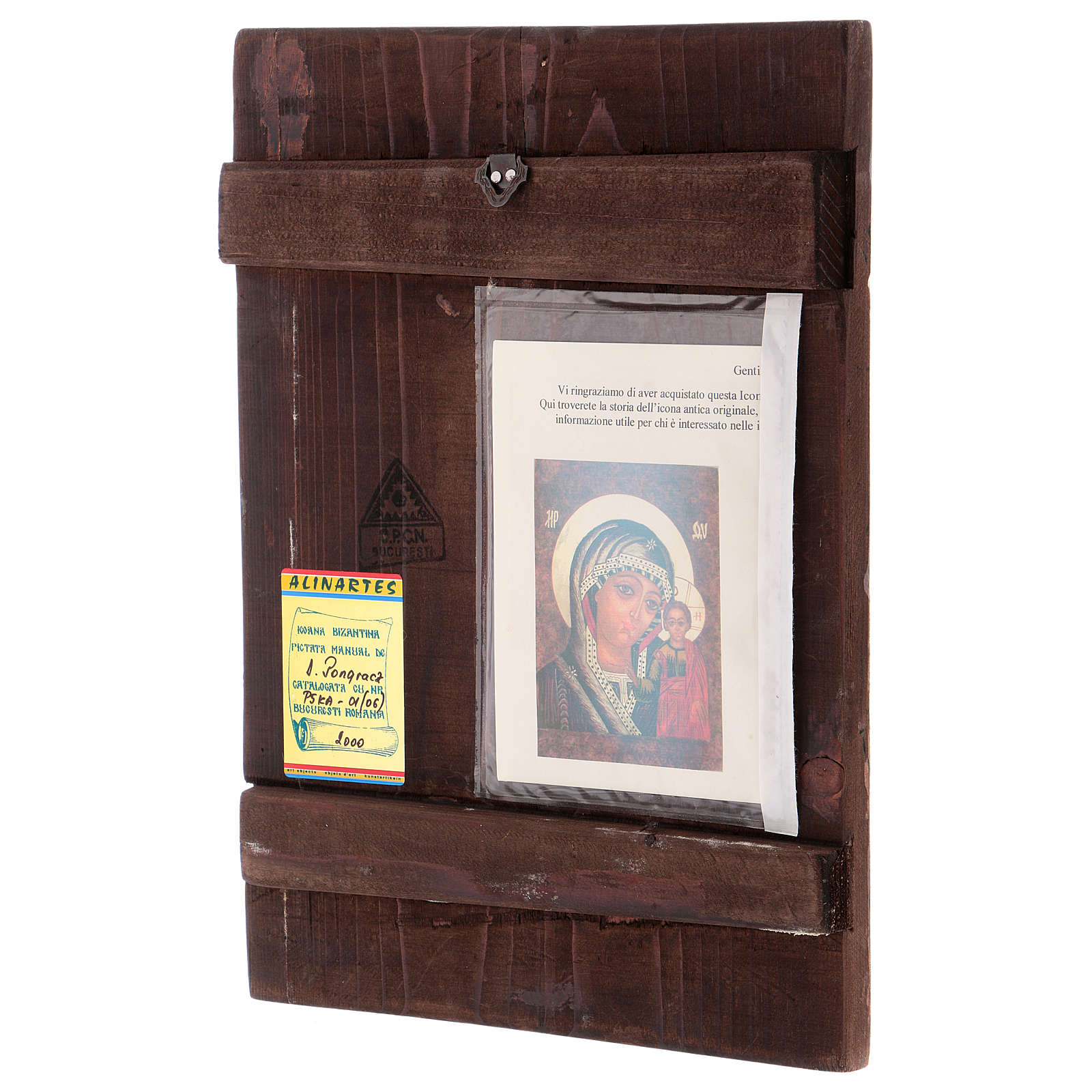 Icona Madre di Dio di Kazan 35x30 cm dipinta Romania 4