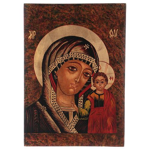 Icona Madre di Dio di Kazan 35x30 cm dipinta Romania 1