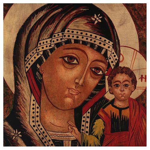 Icona Madre di Dio di Kazan 35x30 cm dipinta Romania 2