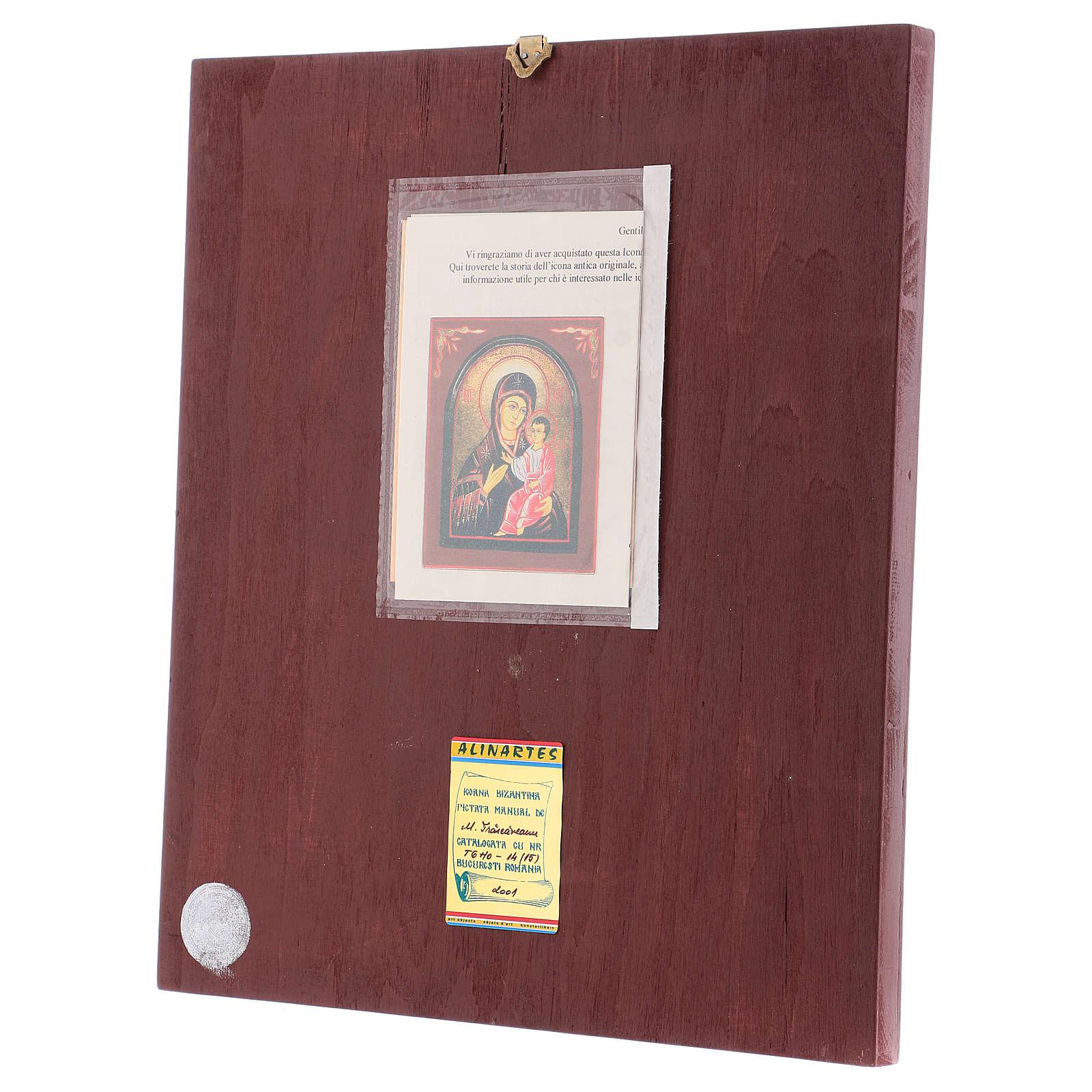 Icona Madre di Dio Hodighitria con cornice 40x30 cm dipinta Romania 4