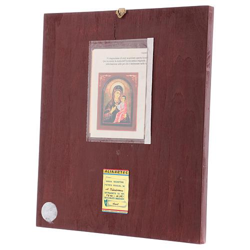 Icona Madre di Dio Hodighitria con cornice 40x30 cm dipinta Romania 3