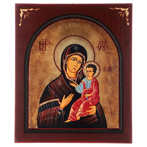 Ícone Nossa Senhora Hodighitria com moldura pintado Roménia