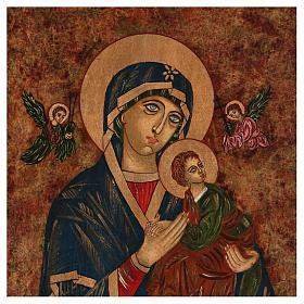 Icona Madre di Dio della Passione 40x30 cm dipinta Romania s2