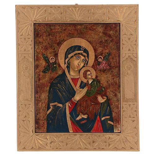 Icona Madre di Dio della Passione 40x30 cm dipinta Romania 1