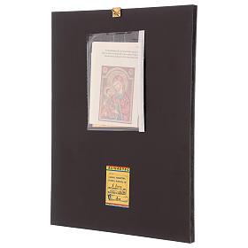 Icona Madre di Dio Hodighitria su fondo oro 40x30 cm dipinta Romania s3