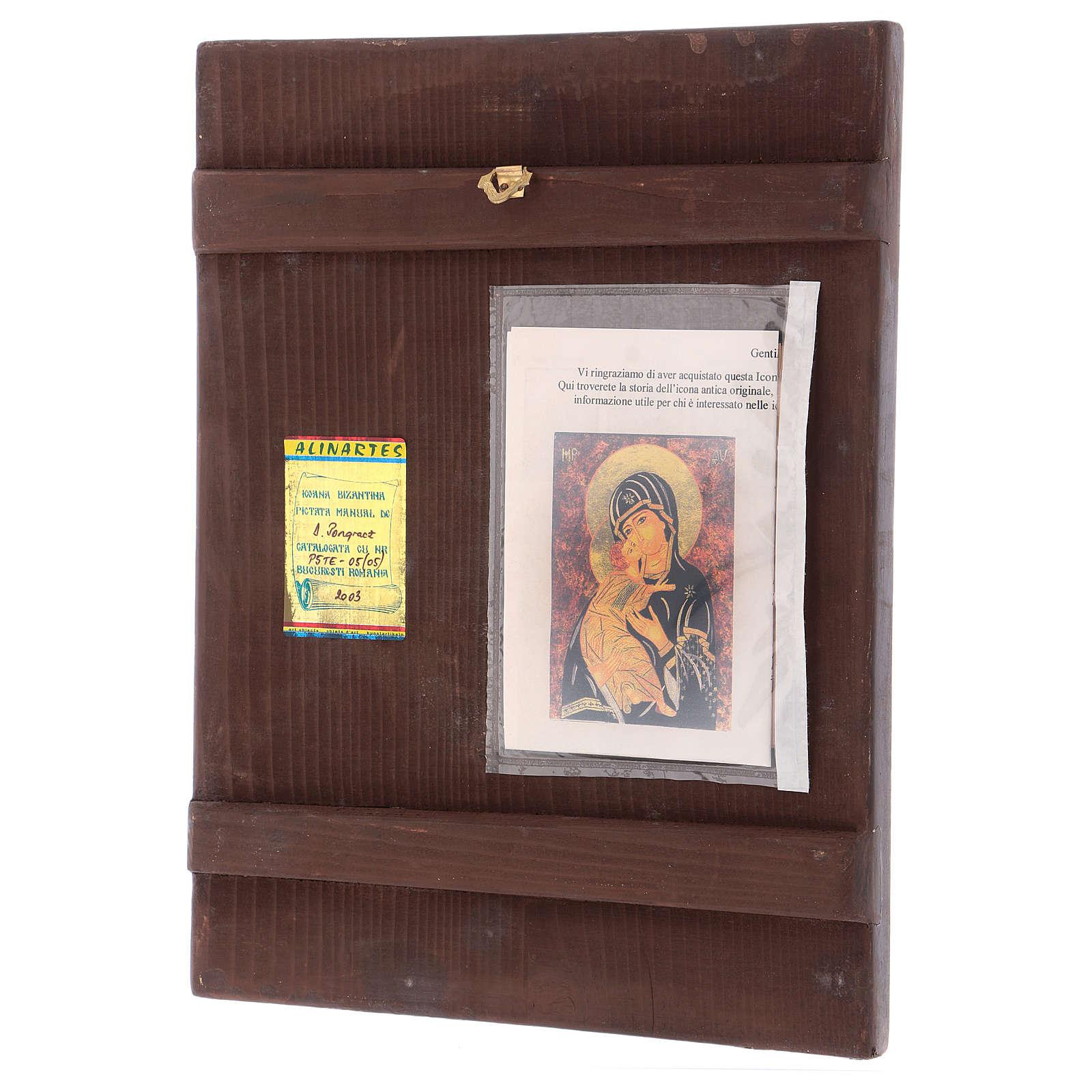 Icona Madre di Dio Vladimirskaja 35x30 cm dipinta Romania 4