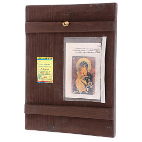 Icona Madre di Dio Vladimirskaja 35x30 cm dipinta Romania s3