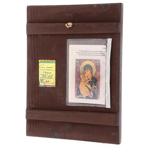 Icona Madre di Dio Vladimirskaja 35x30 cm dipinta Romania 3
