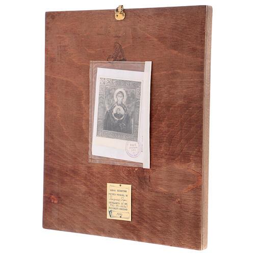 Icona Madre di Dio del Segno 40x30 cm dipinta Romania 3