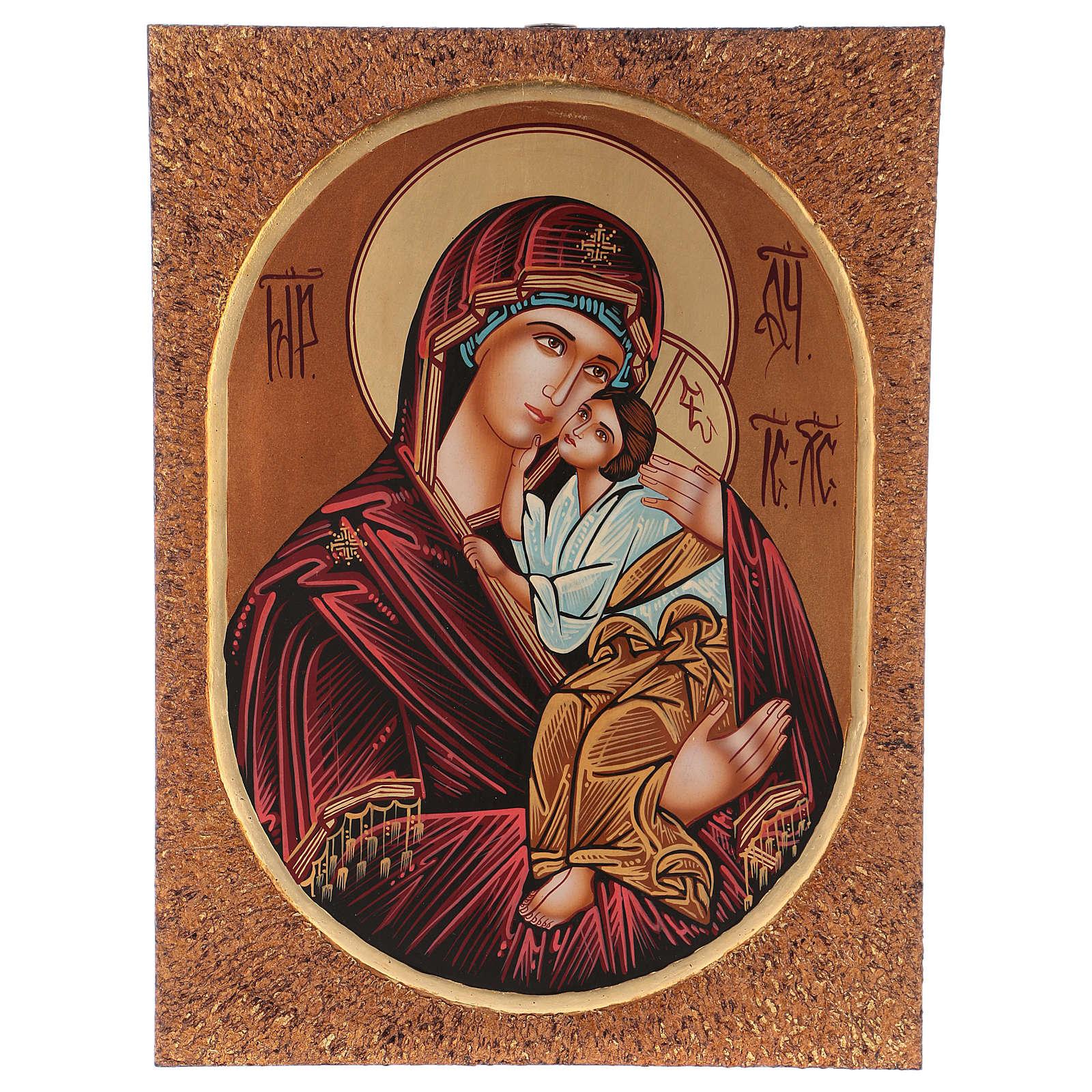 Icon of Our Lady of Jaroslavkaja 40x30 cm 4